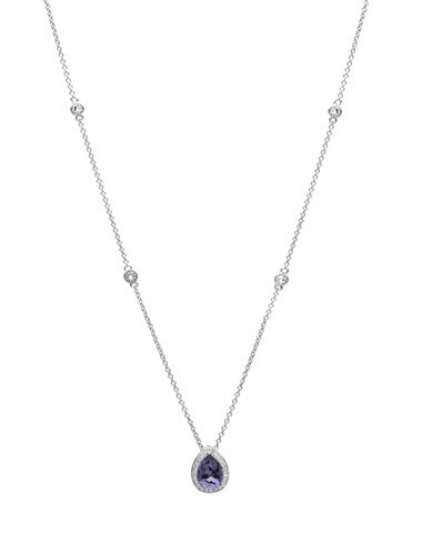 Shanore Pendant: SS Tranzanite/White Tear Drop SW