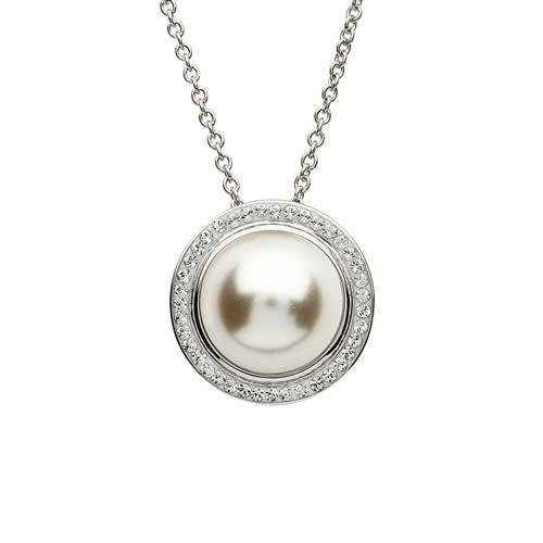 Shanore Pendant: SS Pearl/Crystal SW