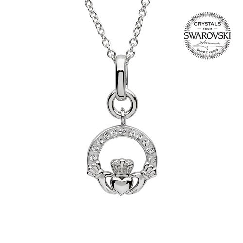 Shanore Pendant: SS SW Claddagh