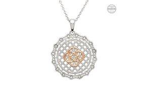 Necklace: SS SW irish Lace Rose Gld