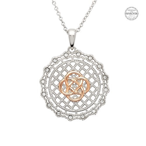 Shanore Necklace: SS SW irish Lace Rose Gld