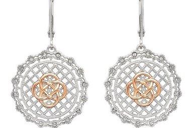 Earrings: SS SW Irish Lace Rose Gld