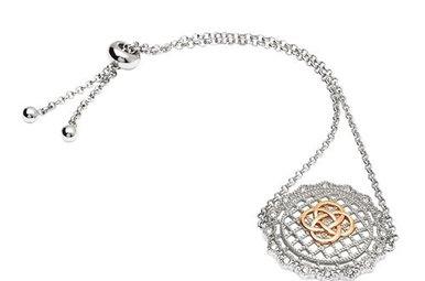Bracelet: SS Irish Lace Rose Gld Pl
