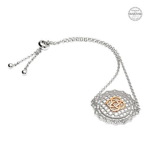 Shanore Bracelet: SS Irish Lace Rose Gld Pl