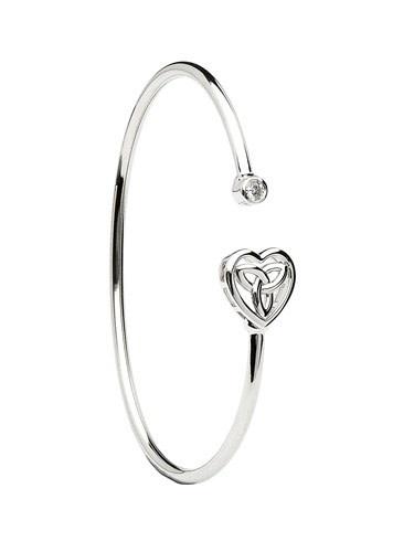 Shanore Bracelet: Bangle SS Trinity Heart