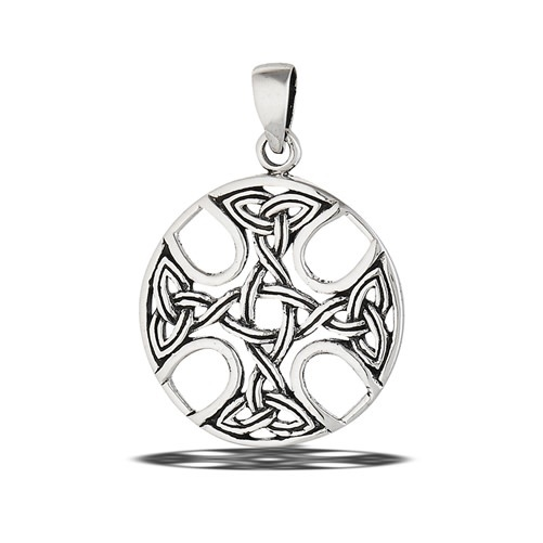 Pendant: SS Celtic Cross Medallion