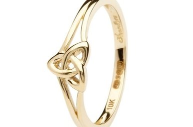 Ring: 10k Gold Trinity