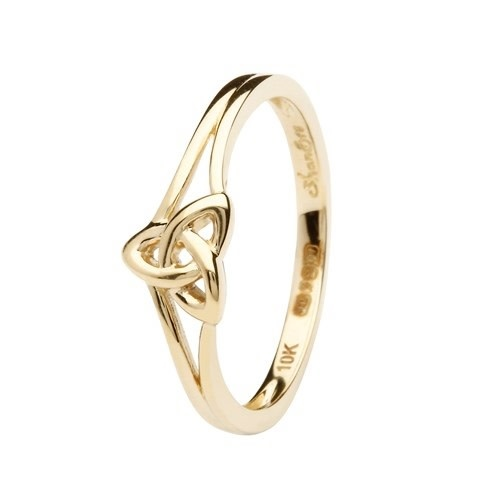 Shanore Ring: 10k Gold Trinity