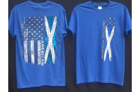 T Shirt: Scottish American Flag