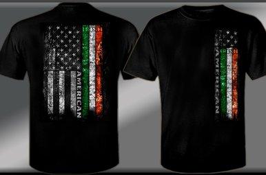 T Shirt: Irish American Flag
