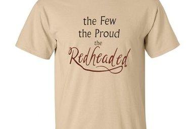 T Shirt: The Few, Proud, Redheaded Tan