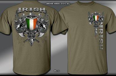 T Shirt: Irish Shield