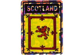"Decal: Vinyl Reflective Scotland Lion 3""x4"""