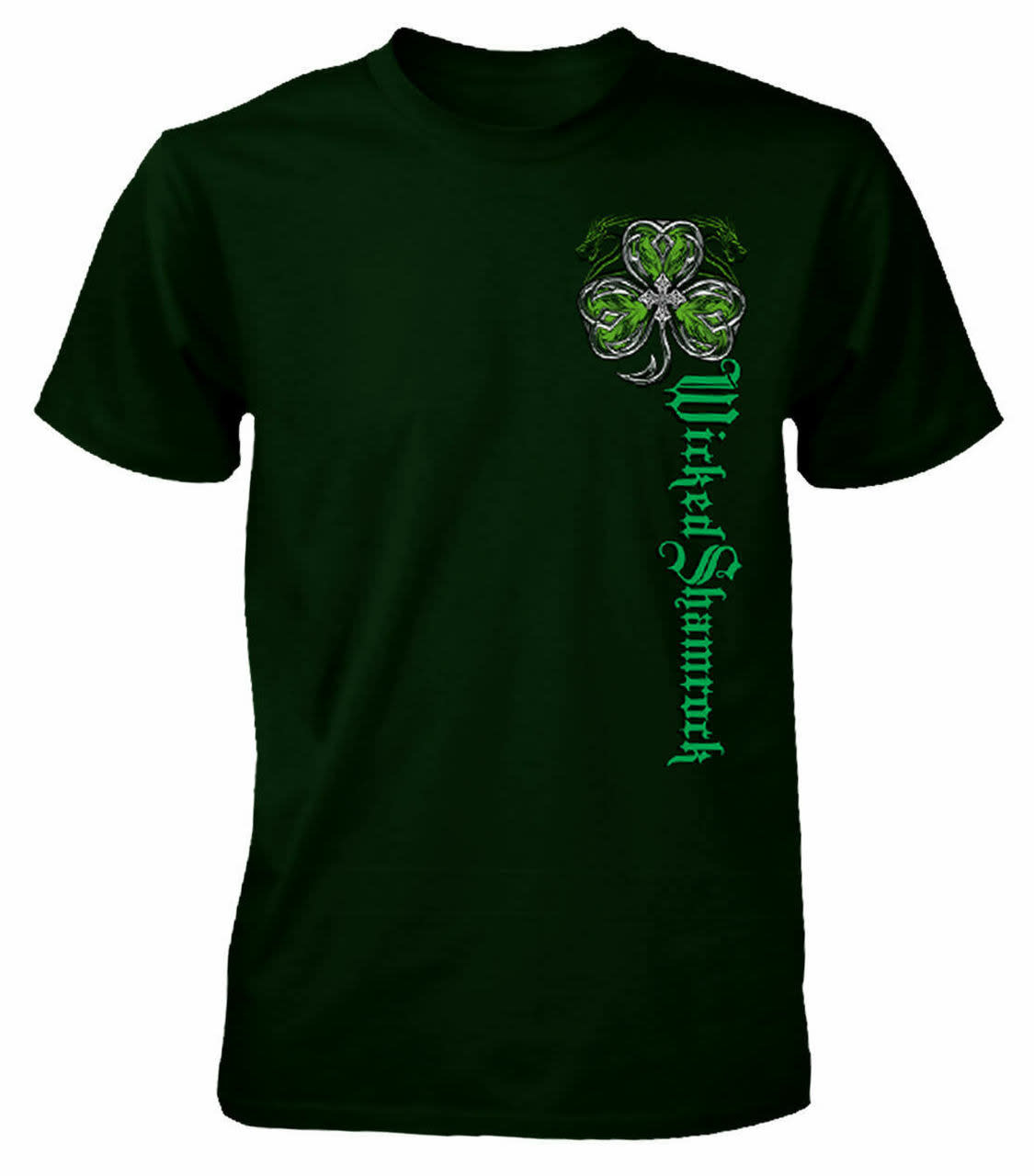 T Shirt: Wicked Shamrock