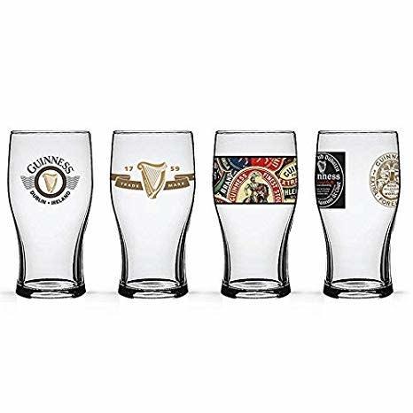 Glass: Irish Pub Glasses, Set of 4