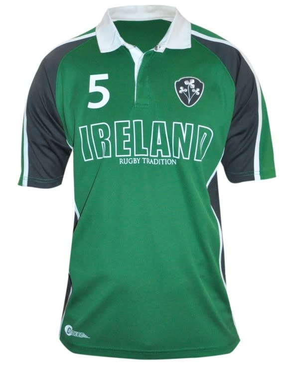Shirt: Green Panelled Ireland Rugby Jersey