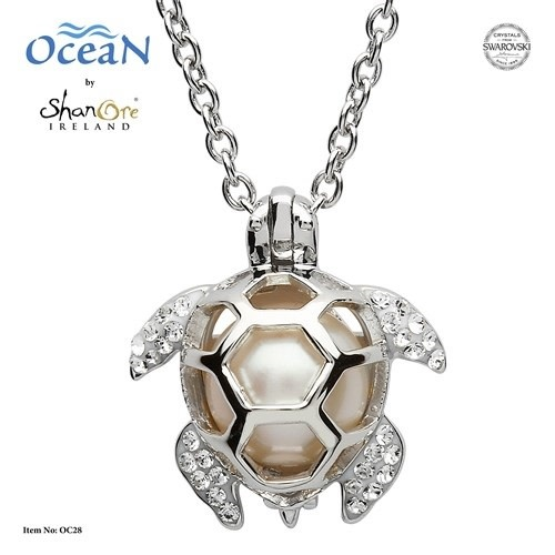 Shanore Pendant: SS Turtle Cage Pearl