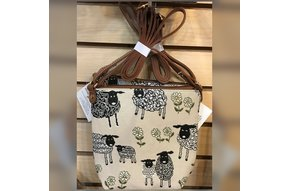 Purse: Tapestry Sling White Sheep