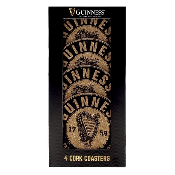 Guinness Coasters: Guinness Cork, 4 pack