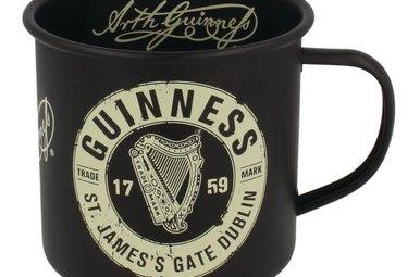 Guinness: Enamel Mug, Black