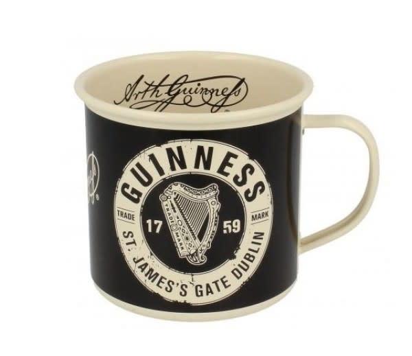 Guinness Guinness: Enamel Mug, Cream