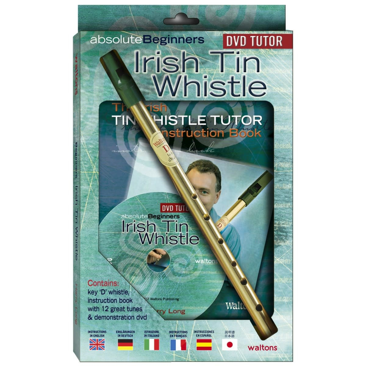 Walton's Music Whistle: Irish Tin w/Book+DVD