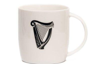 Mug: Guinness Harp, White
