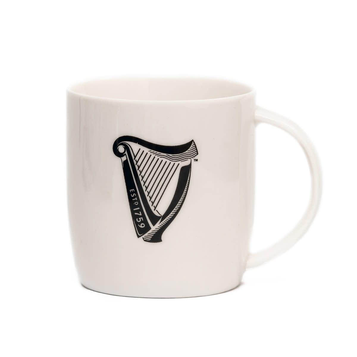 Guinness Mug: Guinness Harp, White