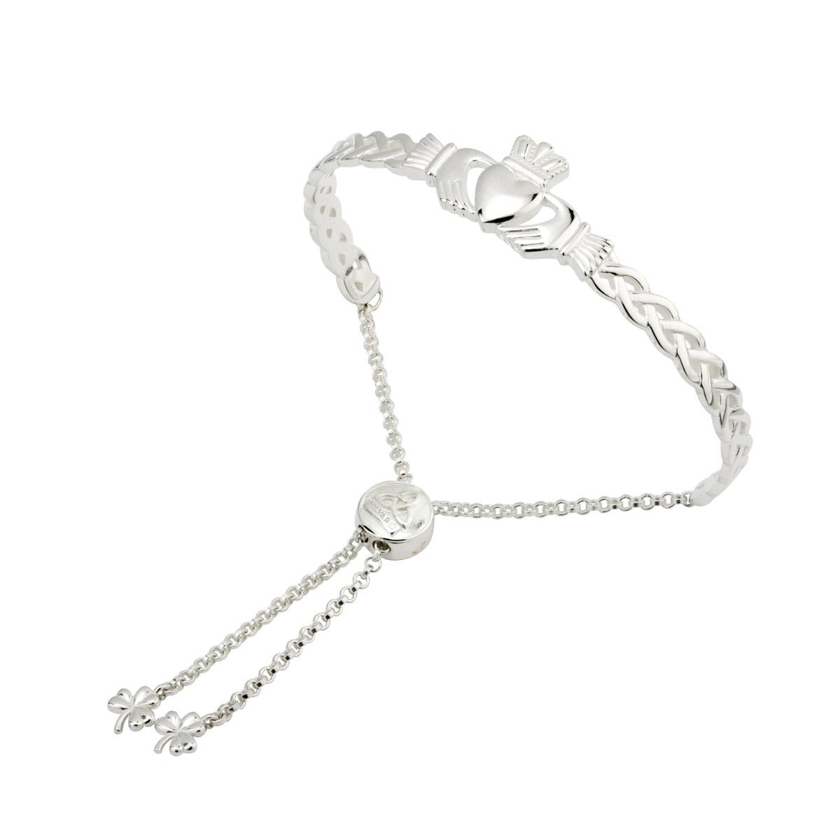 Bracelet: SS Part Bangle Claddagh