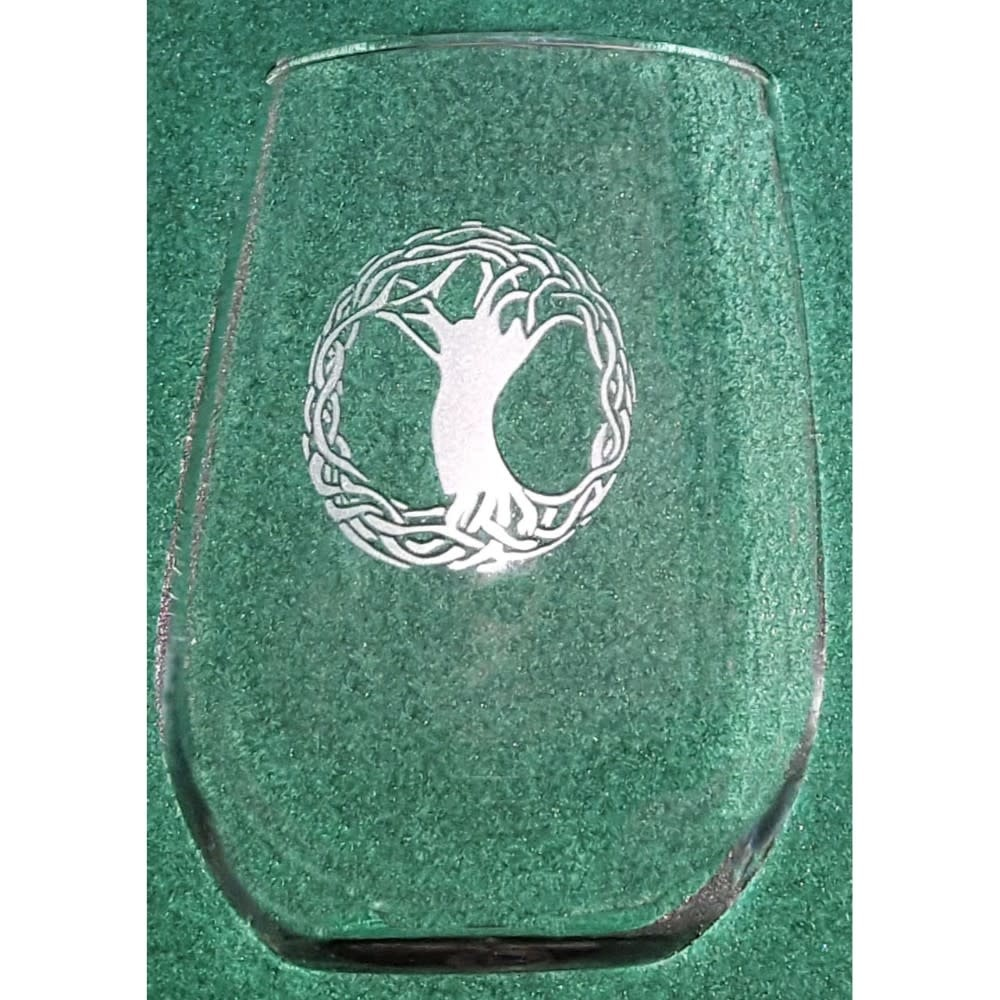 Glass: Stemless Wine/Tree