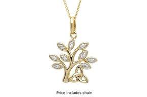 Pendant: 14k Diamond Tree of Life .10