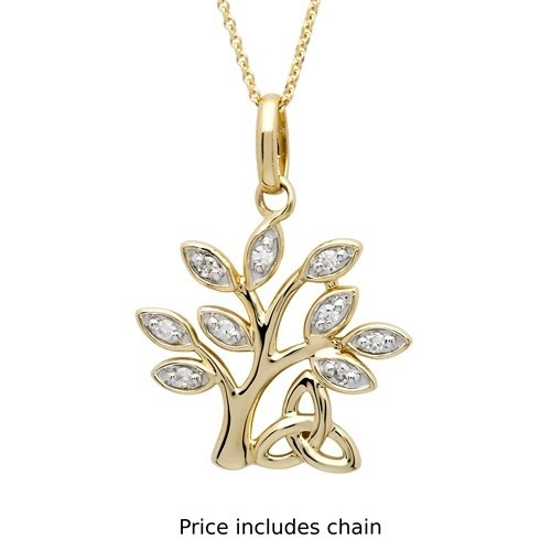 Shanore Pendant: 14k Diamond Tree of Life .10
