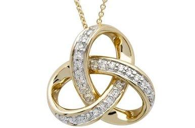 Pendant: 14k Diamond Trinity .25