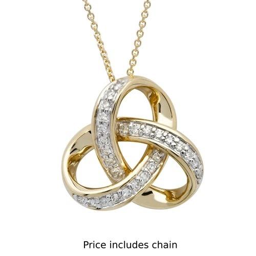 Shanore Pendant: 14k Diamond Trinity .25