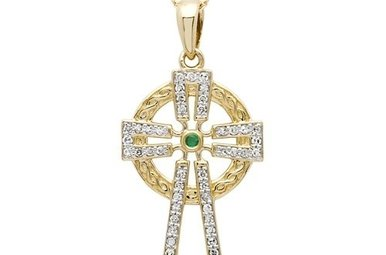 Pendant: 14k Diamond Cross .25