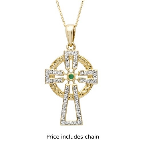Shanore Pendant: 14k Diamond Cross .25