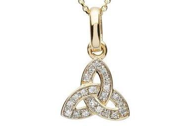 Pendant: 14k Diamond Trinity