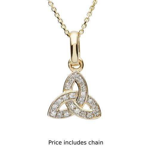 Shanore Pendant: 14k Diamond Trinity