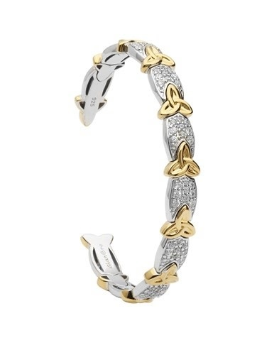 Shanore Bracelet: Bangle Trinity CZ GP