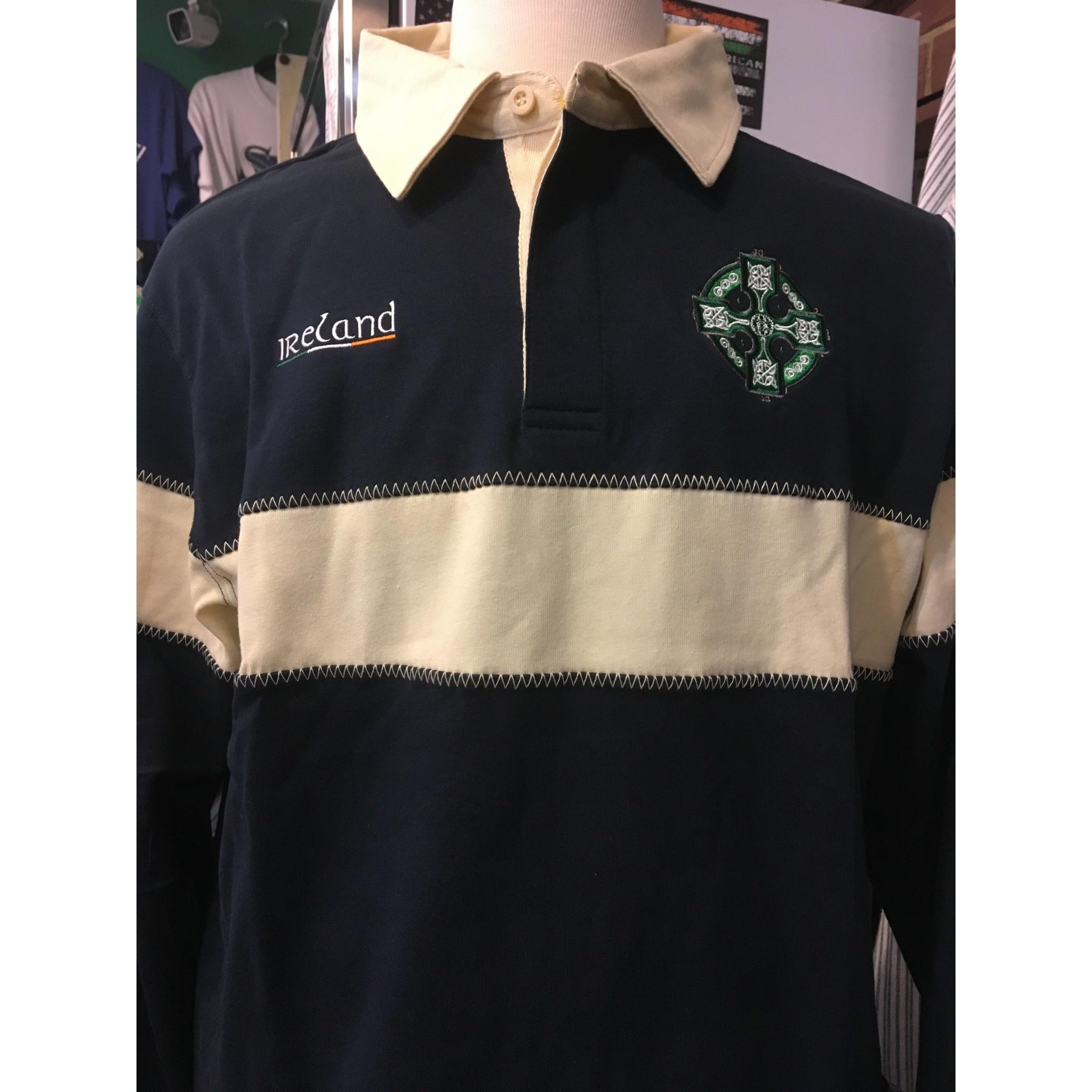 Retro Irish Shirt: Retro Irish Rugby, Navy