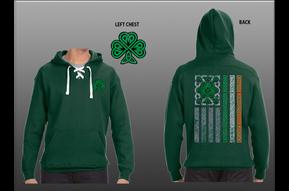 Hoodie: Shamrock Irish Flag Green