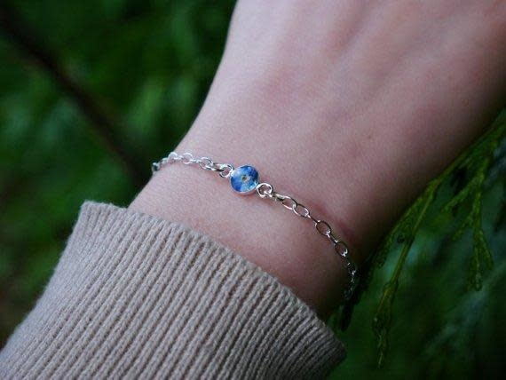 Bracelet: SS adjustable Forget Me Nots