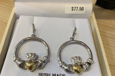 Earring: SS GP Claddagh