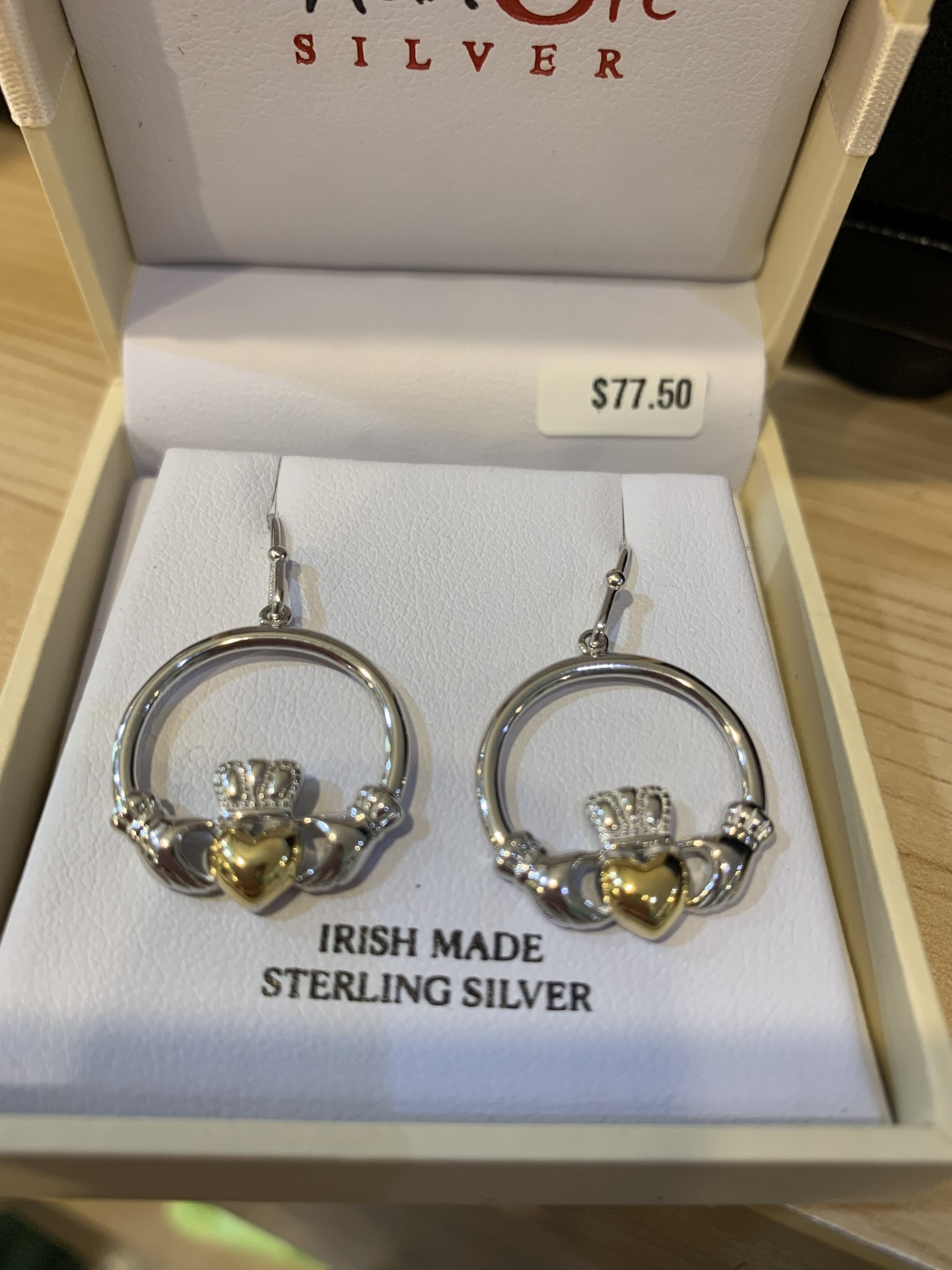 Shanore Earring: SS GP Claddagh