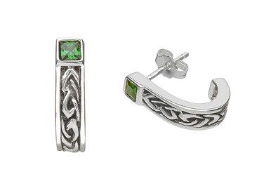 Earring: SS Celtic Huggie Em/CZ