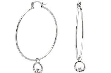 Earrings: SS Med Cladd Hoop