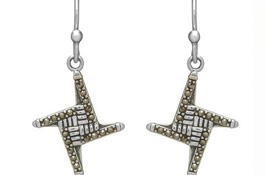 Earrings: SS Marcasite St Bridgets