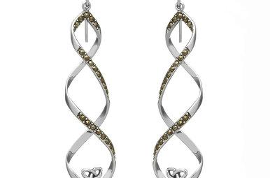 Earrings: SS Marcasite Trin Twist