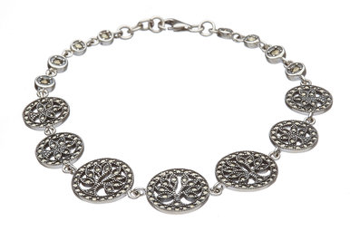 Bracelet: SS Marcasite Tree of Life