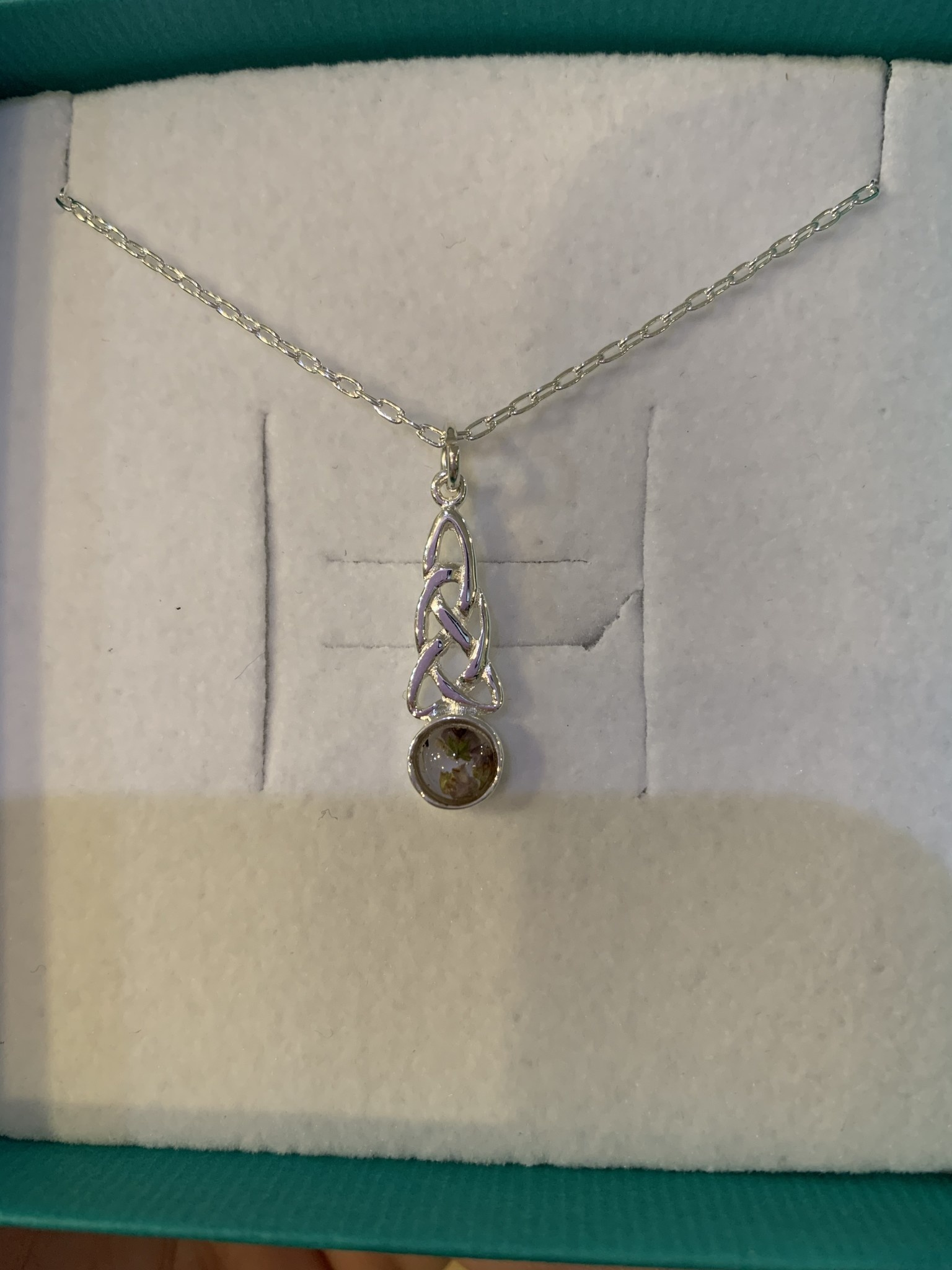 Necklace: SS Celtic Heather